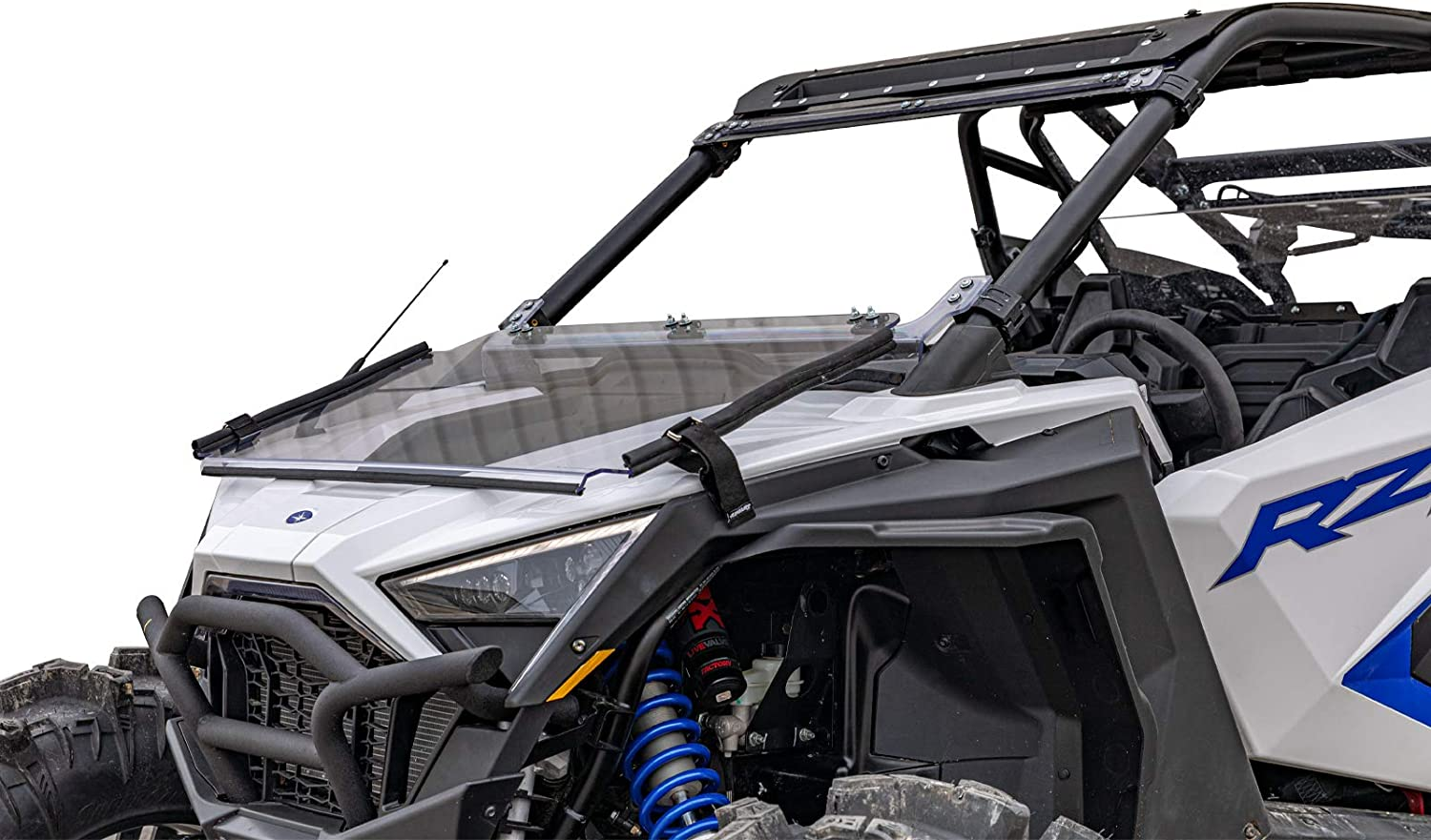 Fort Worth Mall SuperATV Heavy Duty Scratch Resistant P Flip store Down Windshield for