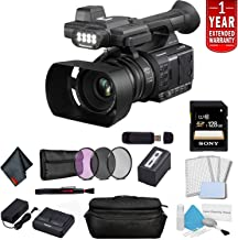 Panasonic AG-AC30 Full HD Camcorder with Touch Panel LCD Viewscreen and Built-in LED Light (US Version) Bundle with 1 Year Extended Warranty, Sony 128GB SDXC Memory Card + 3 Piece Filter Kit + More