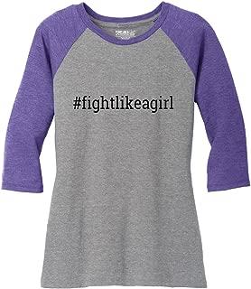 Hashtag Ladies' Tri-Blend Baseball-Style Raglan T-Shirt (Assorted Colors)