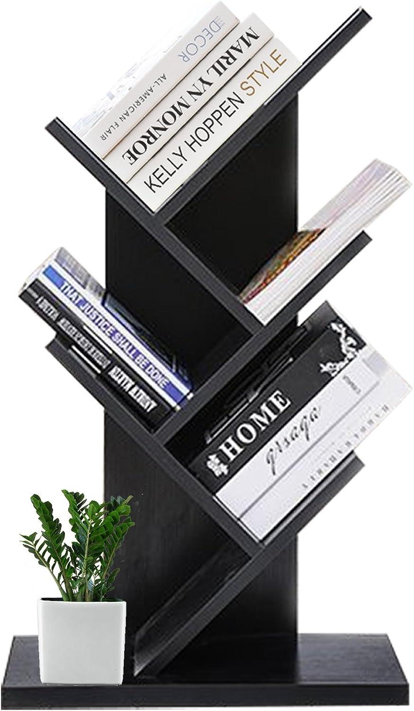 DL Furniture - 6 Tiers Tree Shaped Book Storage Organizer Freestanding Bookshelves   Black