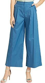 Iconic Women's 2091104 SS24SETPNT Woven Tapered Trousers, Blue