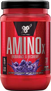 BSN AMINO X Endurance & Recovery Powder with 10 Grams of Aminos Per Serving, Flavor: Grape, 30 Servings