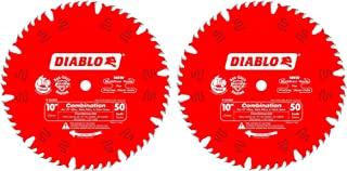 2 PACK Freud D1050X Diablo 10-Inch 50-tooth ATB Combination Saw Blade with 5/8-Inch Arbor and PermaShield Coating