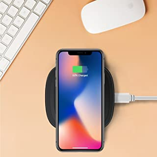 BMQ Wireless Charger, PowerWave Pad, Compatible iPhone 11, 11 Pro, 11 Pro Max, Xs Max, XR, XS, X,8, 8 Plus, 10W Fast-Charging Galaxy S10 S9 S8, Note 10 Note 9 Note 8 (No AC Adapter)