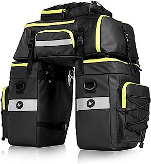 comprar comparacion BAIGIO Bolsa Bicicleta, 3 in 1 Multifuncional Alforja Maletero Impermeable, 3 Compartimentos para Portaequipajes Asiento T...