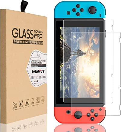 VANFIT HD Ultra-Thin Switch Premium Tempered Glass Screen Protector for Nintendo Switch - 2PCS