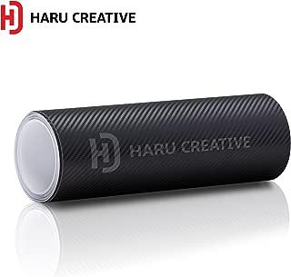 Haru Creative 3D Carbon Fiber Matte Vinyl Wrap Roll with Air Release Technology - Black - 24