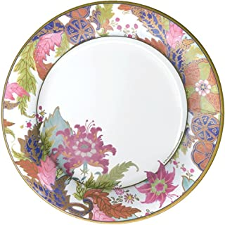 Entertaining with Caspari Tobacco Leaf Ivory Round Paper Dinner Plates, 8-Pack