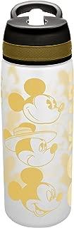 Zak Designs MMOX-S830 Disney Water Bottles, Tritan Straw, Mickey's 90th Birthday