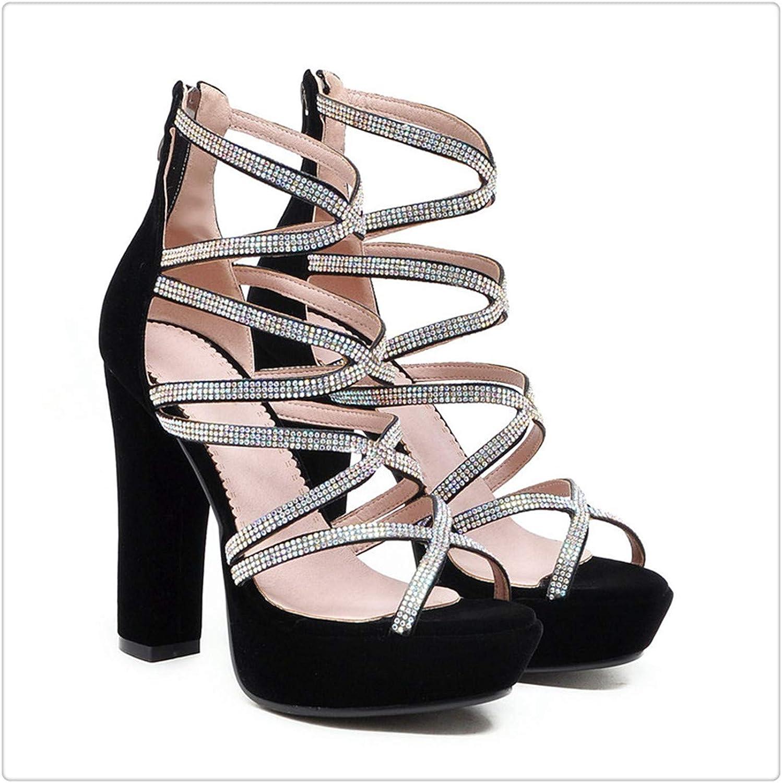 Msanlixian Crystal Rhinestone Gladiator Sandals Strap Platform Wedding Woman shoes Heels