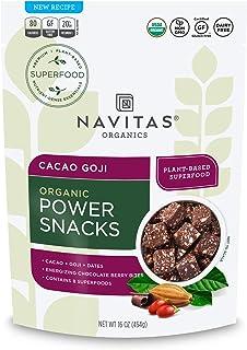 Navitas Organics Superfood Power Snacks, Cacao Goji, 16 oz. Bag, 23 Servings - Organic, Non-GMO, Gluten-Free