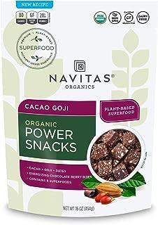 Navitas Organics Superfood Power Snacks, Cacao Goji, 16oz. Bag — Organic, Non-GMO, Gluten-Free