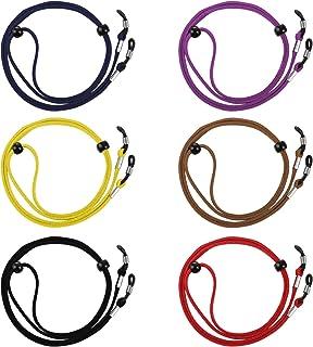 LIHAO 6pcs Cordons à Lunettes, Chaînes de Lunettes pour Homme et Femme Sangle Lunette Réglable Universel Multicolore
