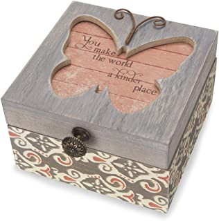 Pavilion Gift Company 41102 Simple Spirits - Patterned Butterfly Someone Special Jewelry Box
