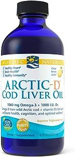 Nordic Naturals Arctic-D Cod Liver Oil, Lemon - 8 oz - 1060 mg Total Omega-3s + 1000 IU Vitamin D3 - EPA & DHA - Heart, Br...