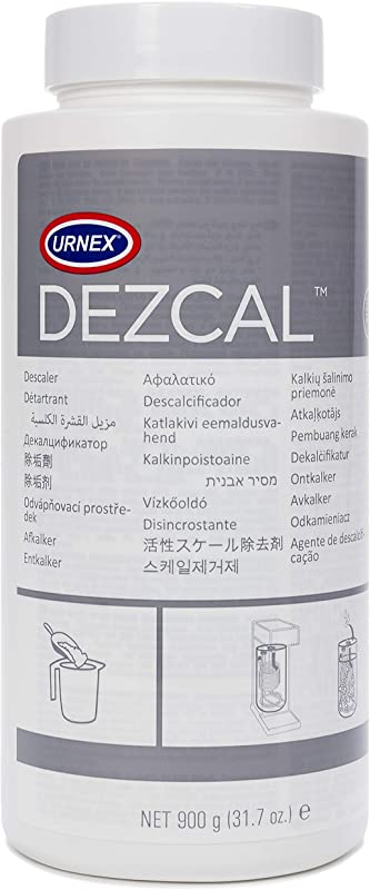 Urnex Dezcal Coffee And Espresso Machine Descaler Activated Scale Remover 900g Bottle Fast Effective Descaling Of Boilers And Heating Elements Faucets Spray Heads Milk Systems