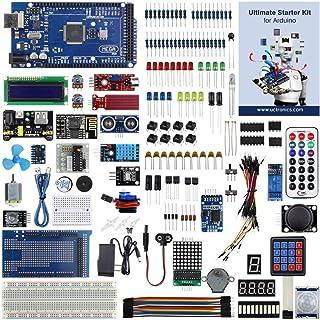UCTRONICS説明書付きのArduino用究極のスターターキット、MEGA 2560 R3、ESP8266モジュール、1602 LCD、NE555タイマー、RTCモジュール、DHT11温度センサー、ウォーターレバーセンサー、サウンドセンサーモジュール