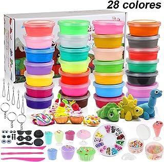 Anpro 28 Colores Air Dry Clay, Kit de Arcilla Seca al Aire,Masa de Modelado Creativo con Varias Decoraciones y Herramientas de Artesanía, Regalos para Niños, Conjunto de Arte para Niños