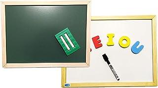 Lousa Infantil, Cortiarte, 3 em 1, Magnética, Branca e Verde, 40x30 cm