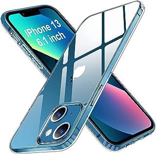 Whew Ultra Clear iPhone 13 Hülle, Transparent Vergilbungsfrei Ultra Dünn Handyhülle Hardcase Hard PC Back und Soft Silikon...