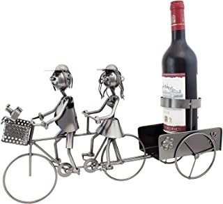 BRUBAKER Wine Bottle Holder Hunter with Dog Metal Wine Stand