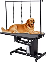 SUNCOO Pet Dog Grooming Table Heavy Duty Z-Lift Table with Arm Leash Loop Height Professional Adjustable Hydraulic Pump Medium Large Dog 43.3