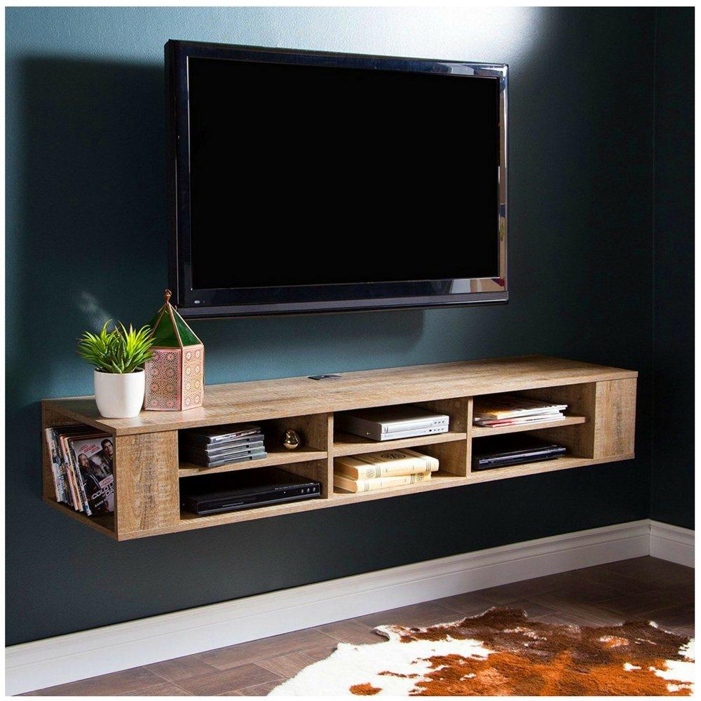 BADA Shop - Consola flotante de pared para TV con estantes abiertos, centro de entretenimiento, ahorro de espacio, mueble para el hogar, sala de estar, elegante y moderno eBook: Amazon.es: Juguetes y