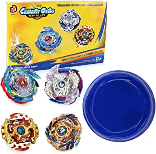 BBwin Bey Battle Burst Evolution Set 4 PCS Battling Tops Gyros Toy with 4D Launcher Grip and Arena