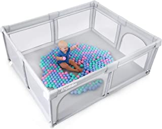 ANGELBLISS Baby Playpen, Extra Large Playard, Indoor & Outdoor Kids Activity Center with Anti-Slip Base, Sturdy Safety Pla...