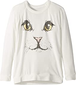 Extra Soft Kitty Face Pullover Sweater (Little Kids/Big Kids)