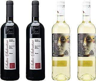 [ 4本 まとめ買い ワイン 飲み比べ ] 2017年 サリチェ サレンティーノ ロッソ (ロッカ デイ モリ) 750ml と 2019年 オノロ ベラ ルエダ (ヒル ファミリー エステーツ) 750ml ワインセット