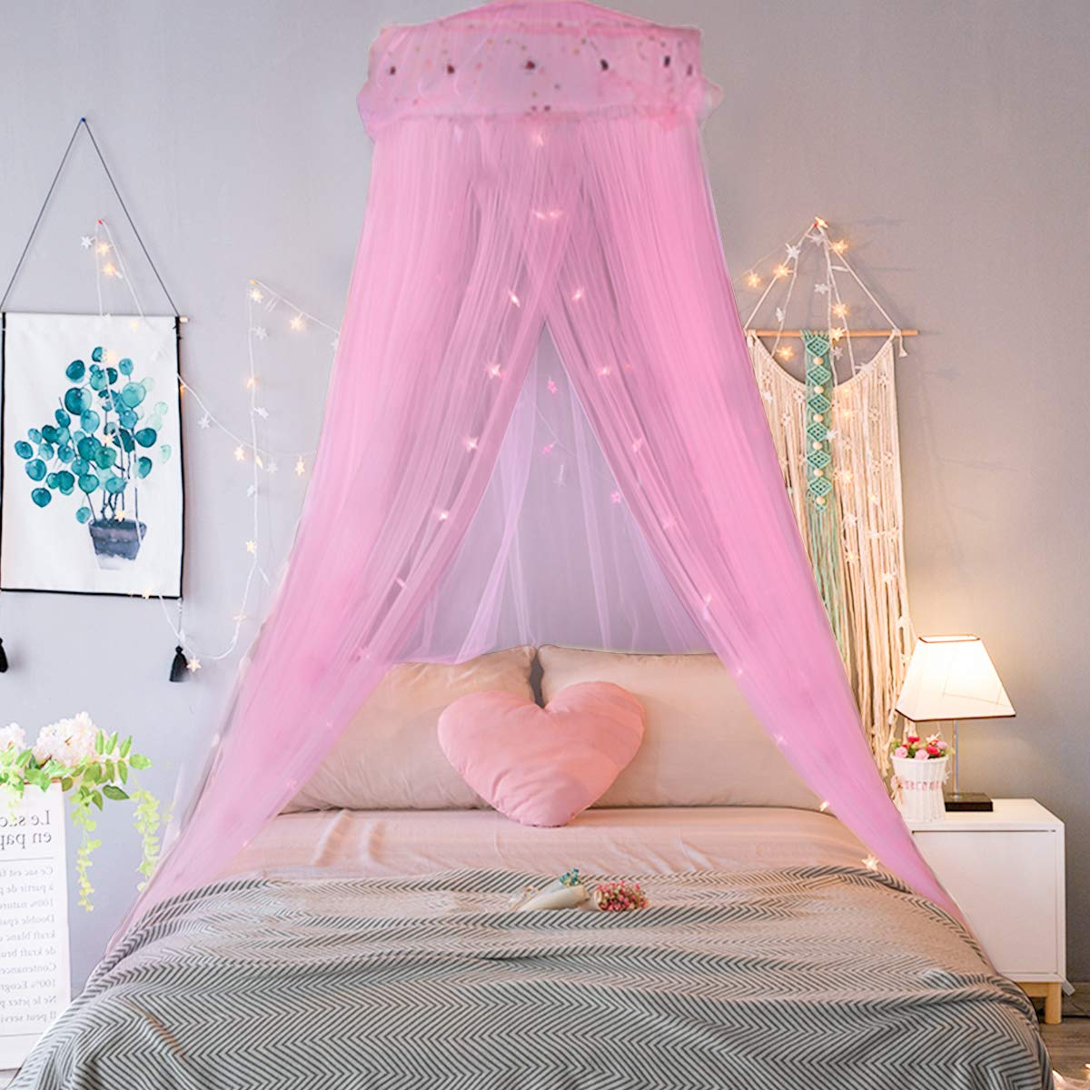 Jeteven Princess Mosquito Net Lace Dome Bed Canopy for Children Fly Insect Protection Indoor/Outdoor & Princess Bed Canopy: Amazon.co.uk