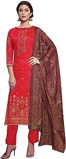 Ladyline Cotton Embroidered Salwar Kameez Ready to Wear Indian Womens Evening Dress