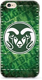 Inspired Cases - 3D Textured iPhone 6 Plus/6s Plus Case - Protective Phone Cover - Rubber Bumper Cover - Case for Apple iPhone 6 Plus/6s Plus - Colorado State University Rams - Football Case