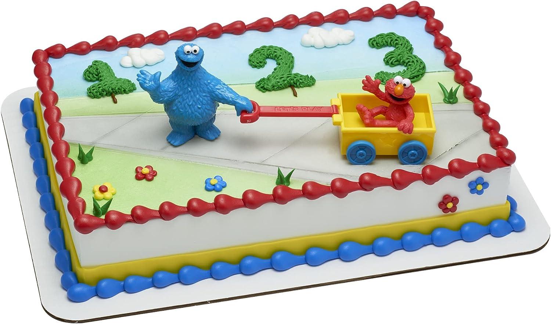 Decopac Sesame Street Year-end annual account Let's Play Cake [Alternative dealer] Decoration DecoSet Topper