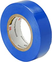 Scotch Vinyl Color Coding Electrical Tape 35, 1/2 in x 20 ft, Blue