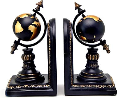 Bellaa 28700 Globe Bookend Armillary Books Shelves Holder Vintage Style 7 inch