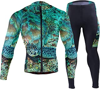 Turtle Komodo National Park Men's Cycling Jersey Set Breathable Quick-Dry MTB Road Bike Luxury