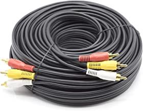 THE CIMPLE CO - 50 ft RWY RCA Composite Video Cable – (Red-White-Yellow) Composite Cable – DIRECTV, Dish Network, Comcast, VCR (VHS), with Gold Plated Connectors - 50 Feet