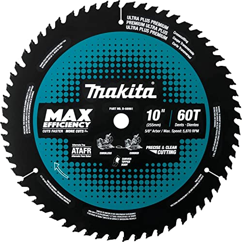 """new arrival Makita B-66961 10"""" 60T Carbide-Tipped popular Max Efficiency Miter lowest Saw Blade outlet online sale"""