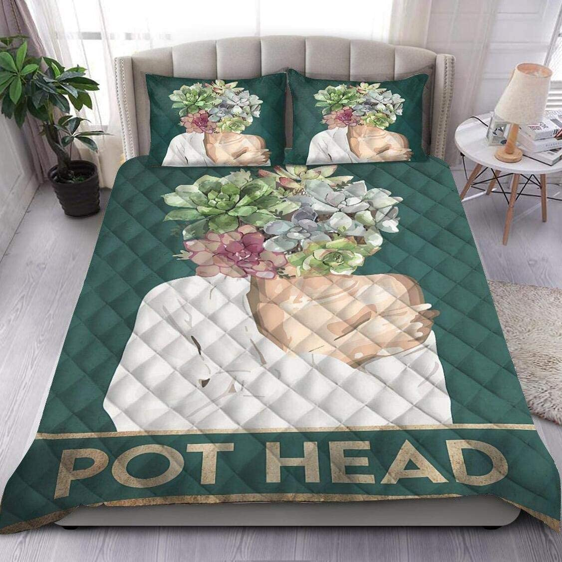 Personalized Pot Head Quilt Custom Large special price !! Twin King Queen sale Your T