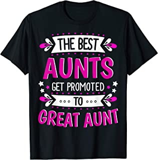 Aunts Great Aunt T-Shirt Gift for First Time Great Aunt