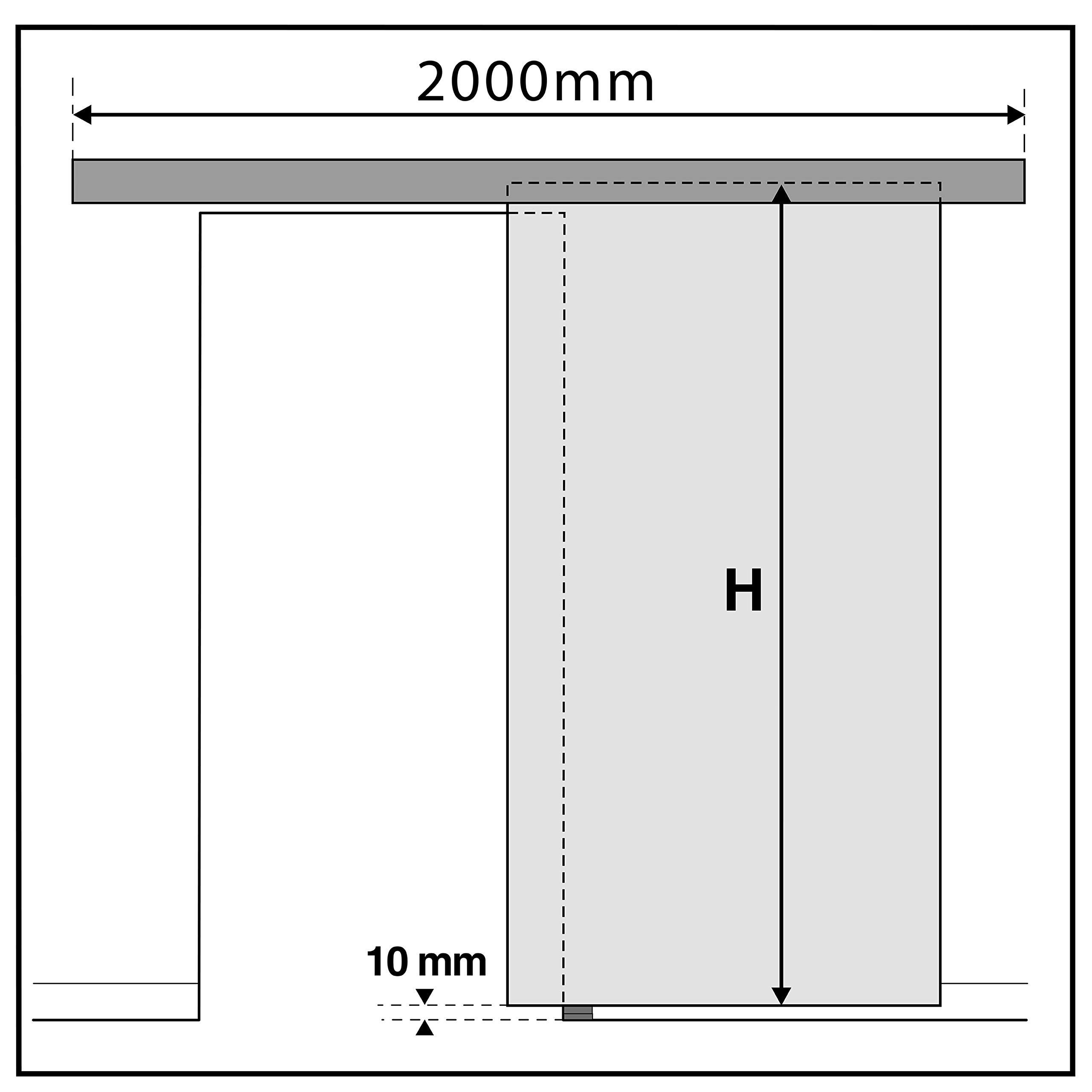 PrimeMatik - Rail guía para puerta corredera con cubierta de madera MDF de color ceniza de 2m (GK003): Amazon.es: Bricolaje y herramientas