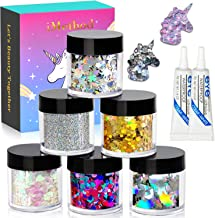 Holographic Face Body Glitters Set - 6 Jars iMethod Cosmetic Glitters, for Festival & Halloween Makeup, Face, Body, Hair, Nail and other Occasions
