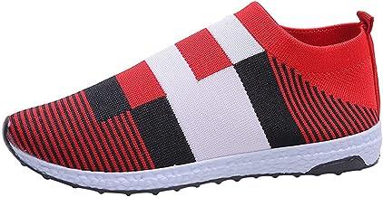 BingThL Chaussures de marche sportives pour femme - Maille décontractée - Confortables - Respirantes - Faciles à enfiler -...