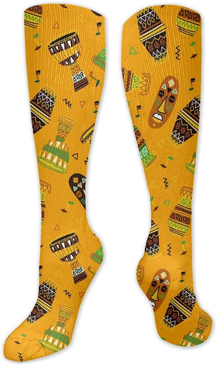 Africa Style Pattern Knee High Socks Leg Warmer Dresses Long Boot Stockings For Womens Cosplay Daily Wear