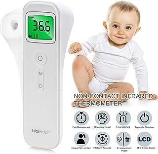 Termómetro Infrarrojo, AGM Termómetro de Frente y Muñeca Digital Instantáneas, Pantalla LCD Termómetro sin Contacto Profesional para Bebé, Adultos