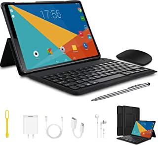 Tablets 10.1 inch 2 in 1 Android 9.0 Tablet with Keyboard...
