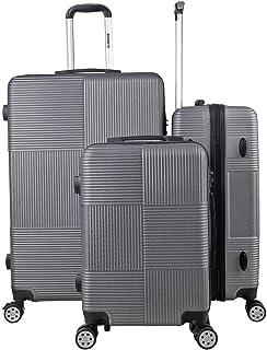 مجموعة شنط سفر بجوانب صلبة بعجلات، مقاسات 20 و24 و28 بوصة مع قفل تي اس ايه للمسافرين الامريكيين