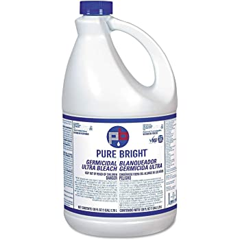 Wholesale CASE of 10 - KIK Custom Prod. PureBright Germicidal Bleach-Pure Bright Ultra Bleach, 1 Gal, White